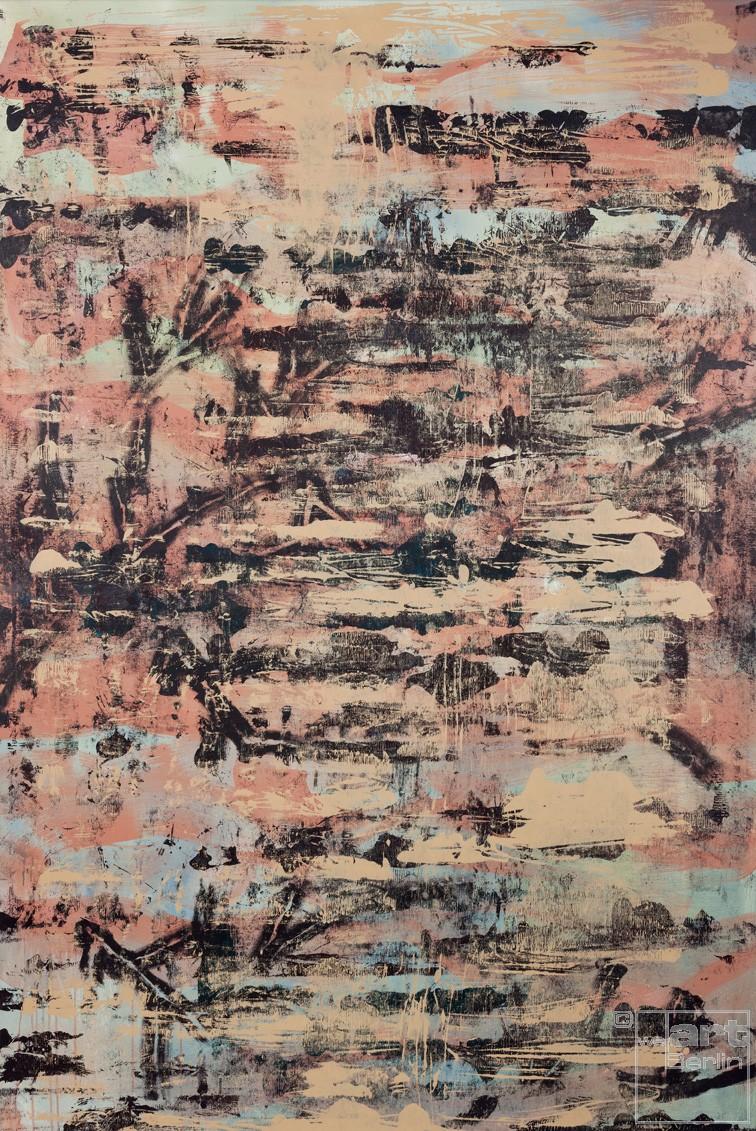 Spurensicherung_04, Malerei von Malwin Faber, Acryl und Sprühlack auf Leinwand