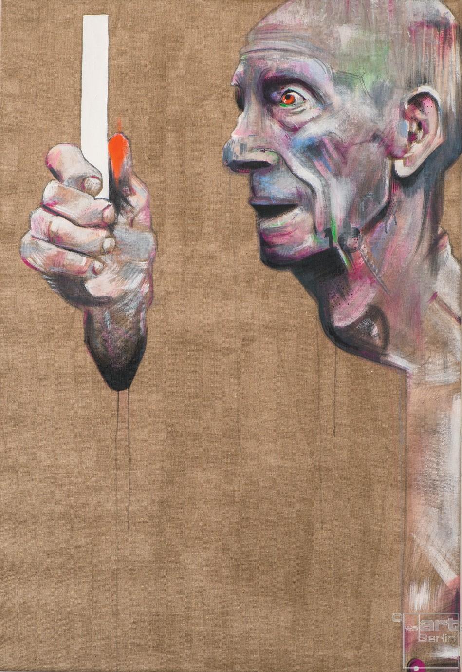 Fernblick | Malerei von Holger Weissflog, innerfields | Acryl auf Leinwand, Urban Art