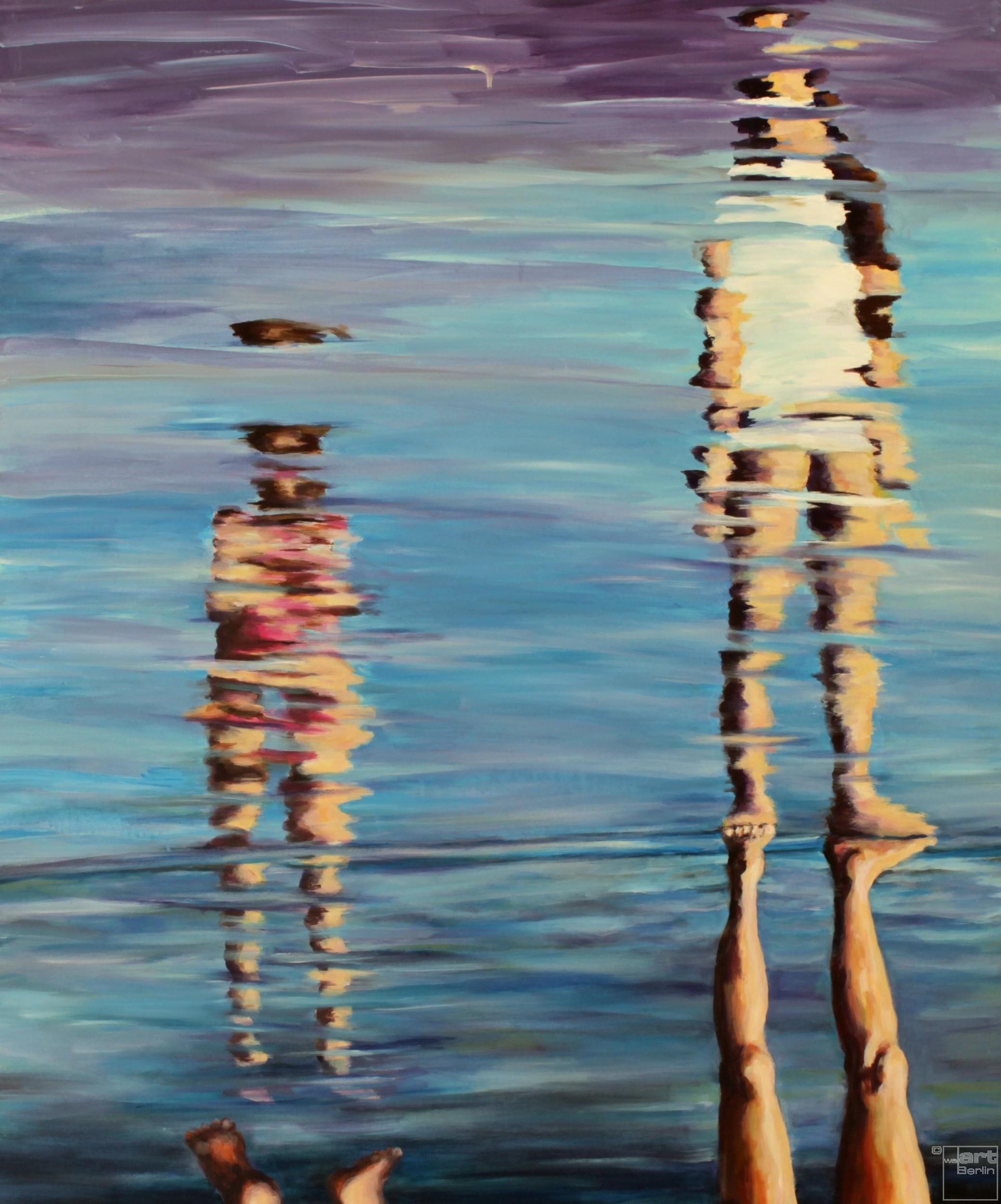 Im Wasser | Malerei von Künstlerin Simone Westphal, Acryl auf Leinwand