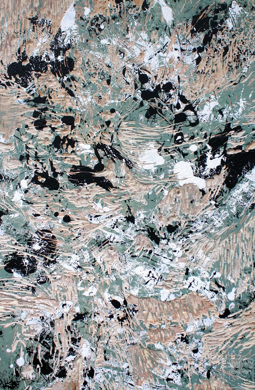 TempelbergHolz, Malerei von Malwin Faber, Serie Spurensicherung