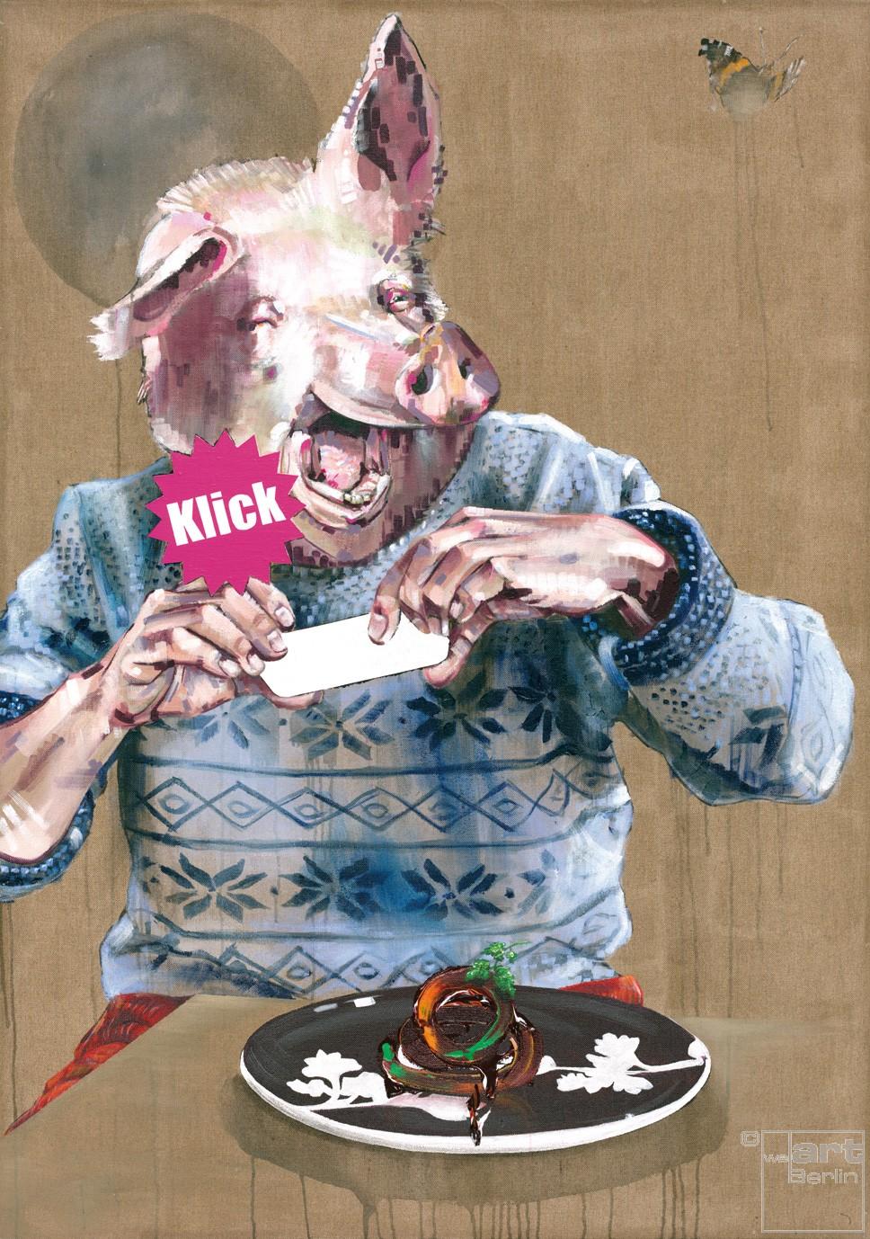Prahlzeit | Malerei von Holger Weissflog, innerfields | Acryl auf Leinwand, Urban Art