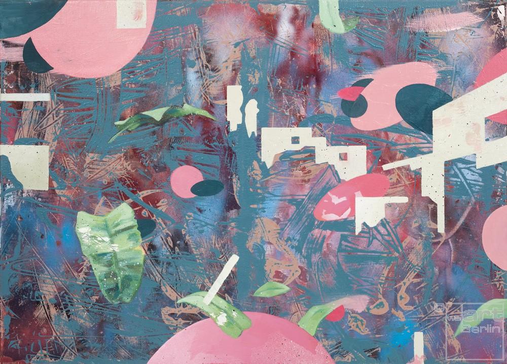 Spurensicherung 10, Malerei von Künstler Malwin Faber
