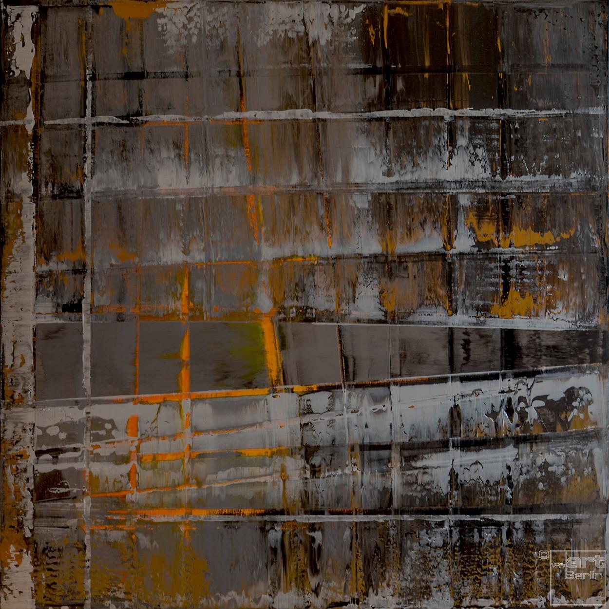 Onyx-Dekonstruktion | Malerei von Lali Torma | Acryl auf Leinwand, abstrakt