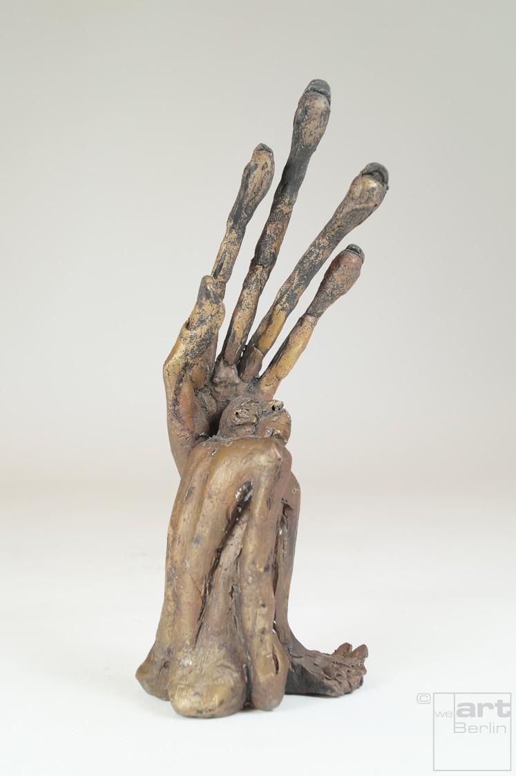 Linke - Bronze Plastik - Skulptur von rechts - Tim David Trillsam Bildhauer Künstler