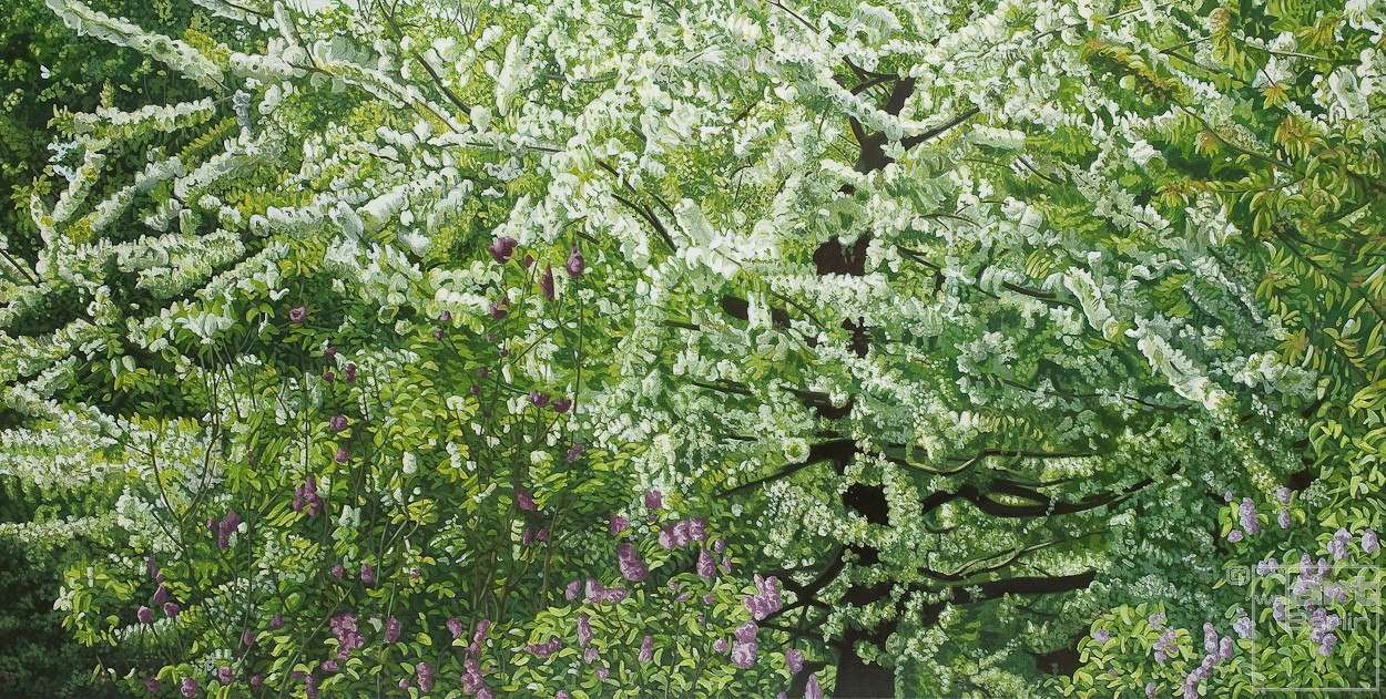 Frühling | Malerei von Sven Wiebers | Acryl auf Baumwolle, realistisch