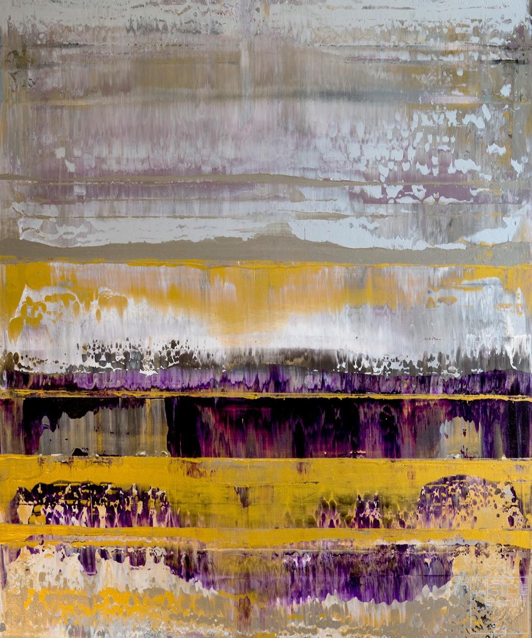 Prisma 10 - Schaumiger Amethyst | Malerei von Lali Torma | Acryl auf Leinwand