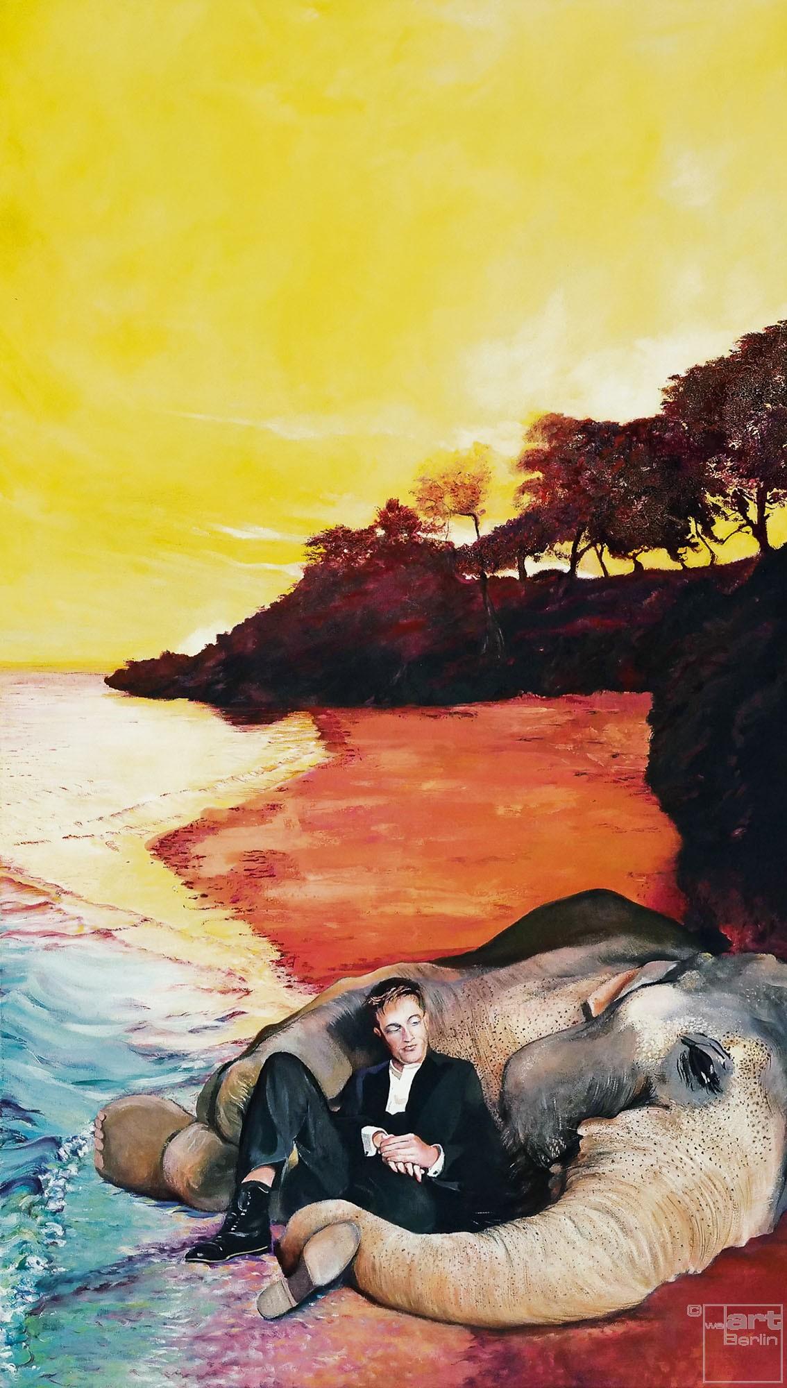 Abendrot | Malerei von Eva Nordal | Öl auf Baumwolle, realistisch