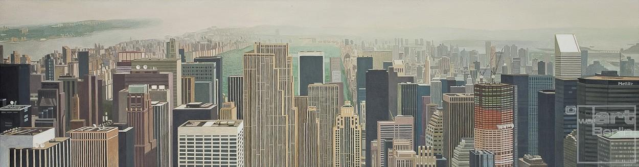 New York 2000 | Malerei von Sven Wiebers | Acryl auf Baumwolle, realistisch