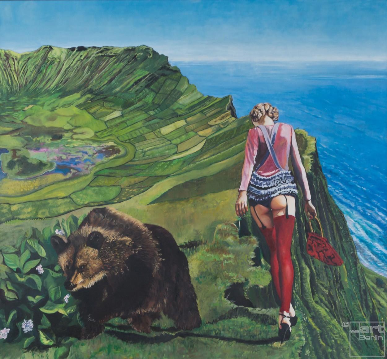 Rotkäppchen | Malerei von Eva Nordal | Öl auf Baumwolle, realistisch