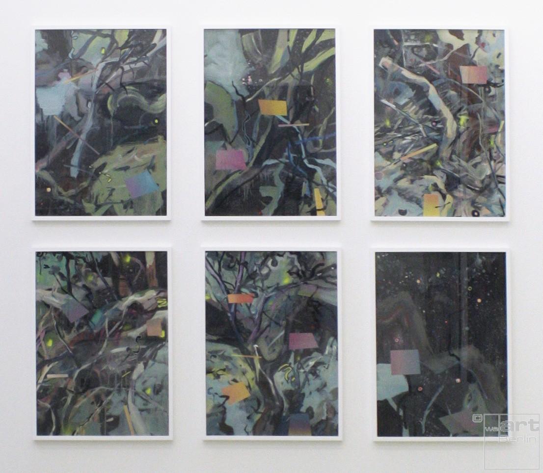 Zwischenräume_1.1 - _1.6 | Malereien von Malwin Faber, gerahmt