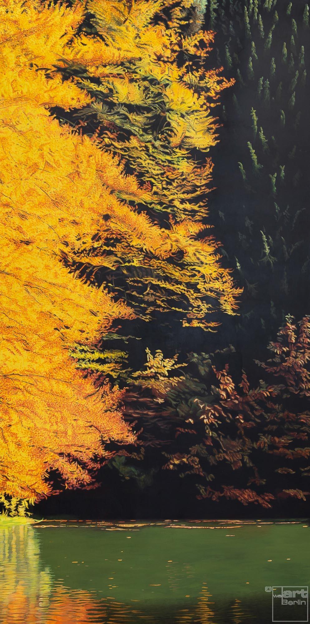 Kraft | Malerei von Sven Wiebers | Acryl auf Leinwand, realistisch