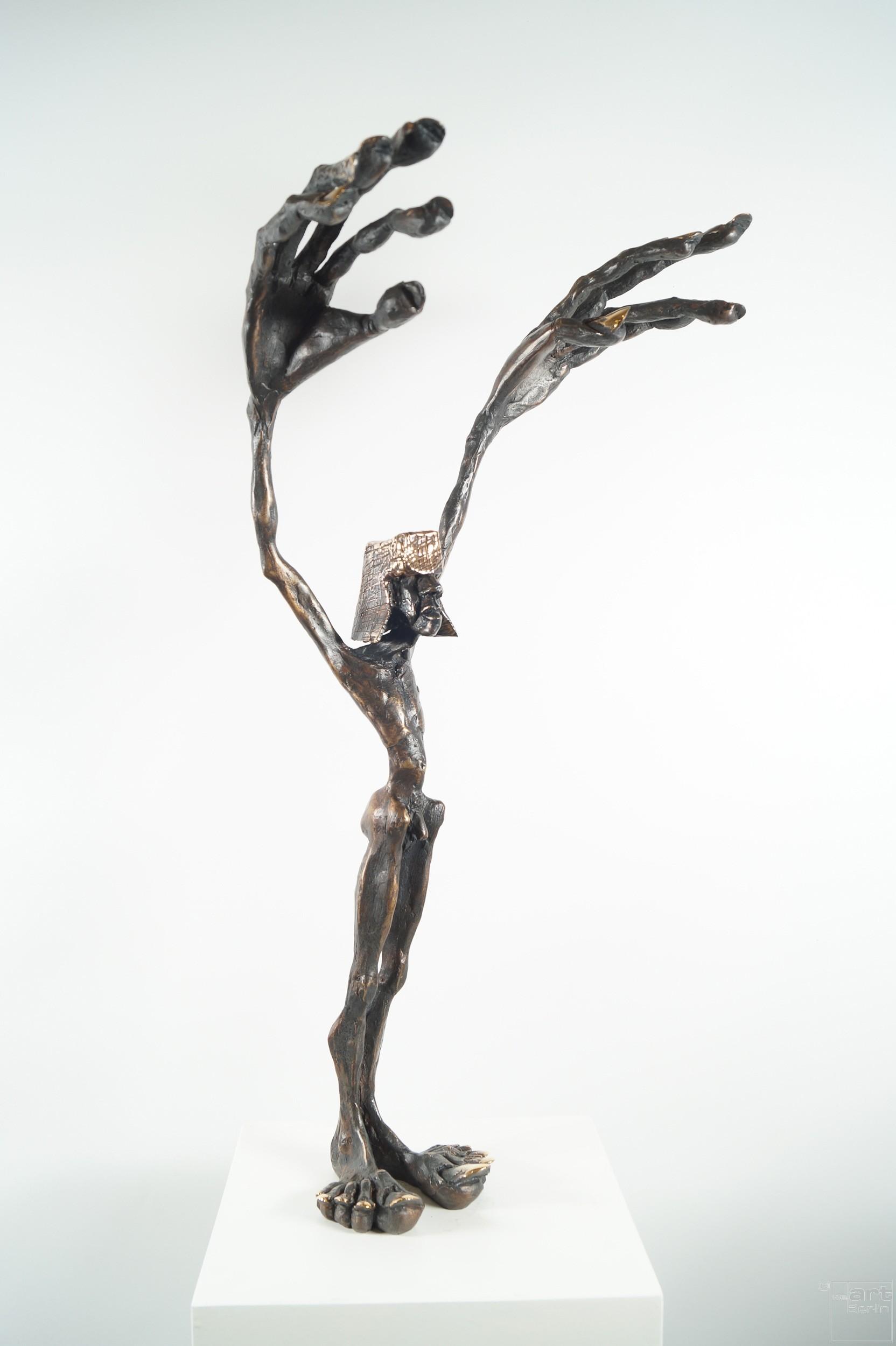 Fadenzieher - Bronze Plastik, Skulptur von Tim David Trillsam, Edition