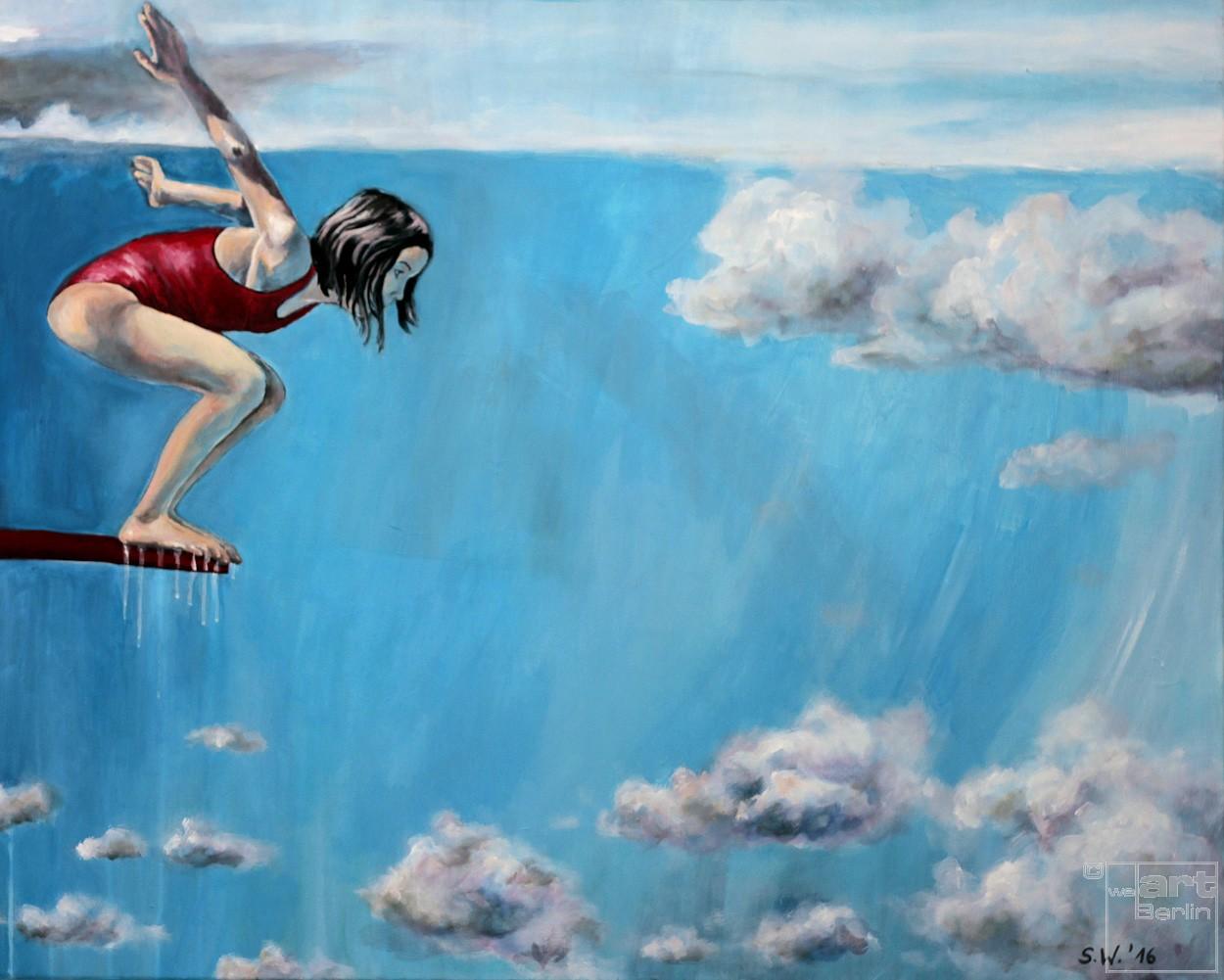 Jetzt | Malerei von Künstlerin Simone Westphal, Acryl auf Leinwand