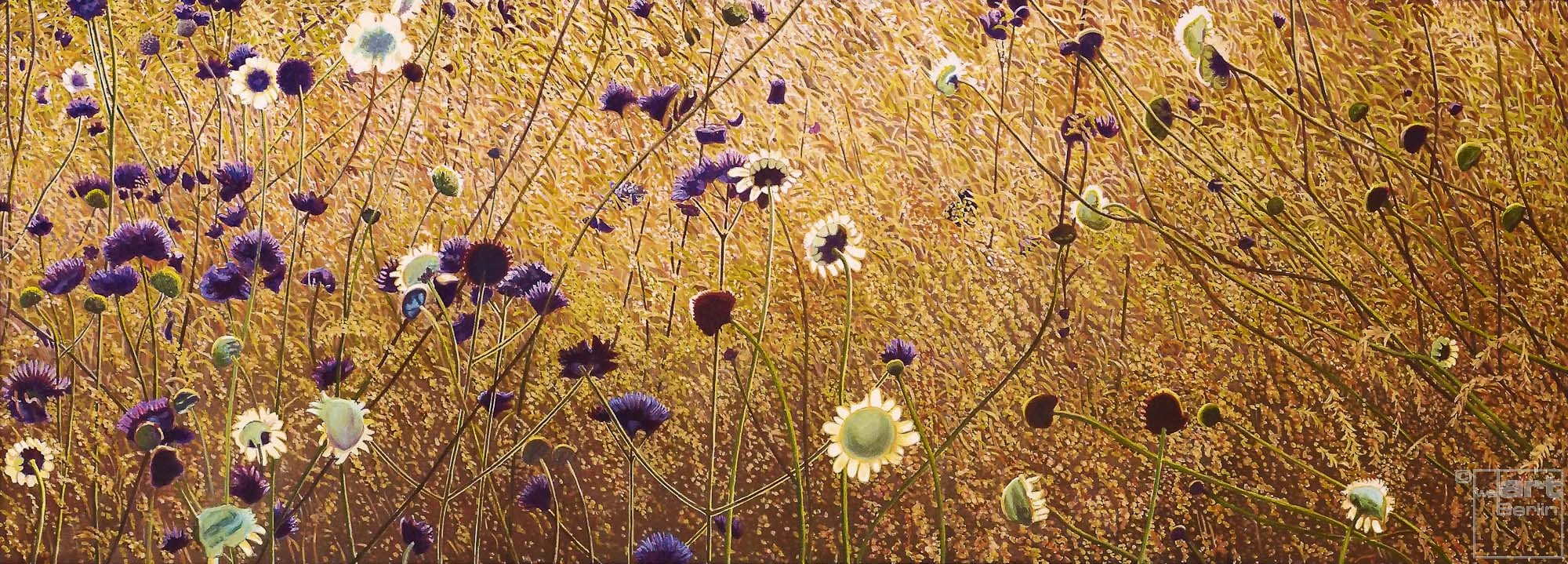 Korbblütler | Malerei von Sven Wiebers | Acryl auf Leinwand, realistisch