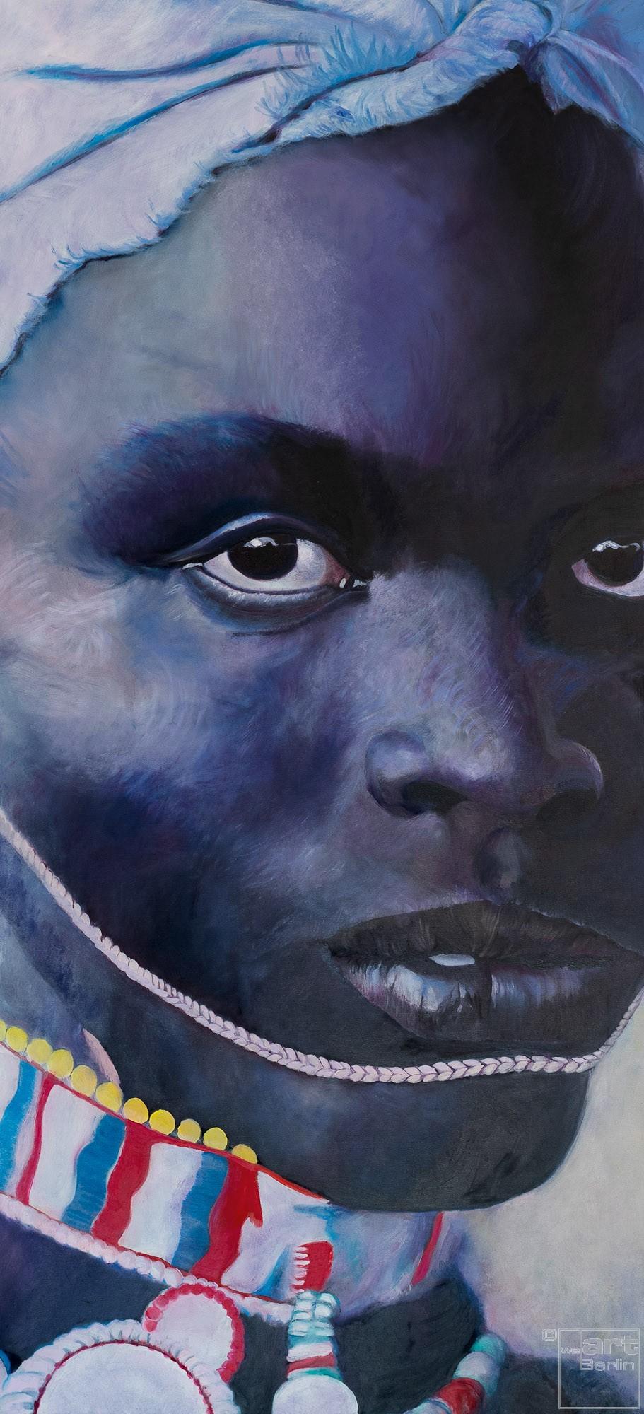 Schwarzafrika | Malerei von Eva Nordal | Öl auf Leinwand, realistisch