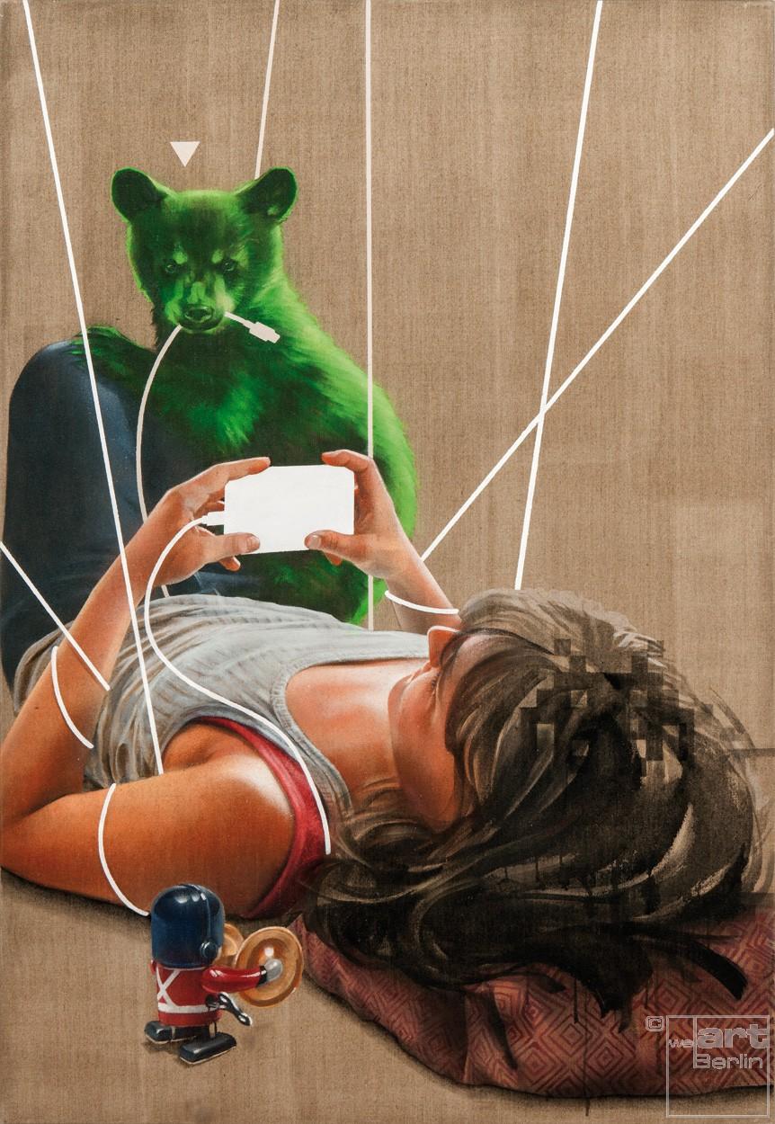 Schleifpunkt   Malerei von Jakob Tory Bardou, innerfields   Acryl, Sprühfarbe auf Leinwand, Urban Art