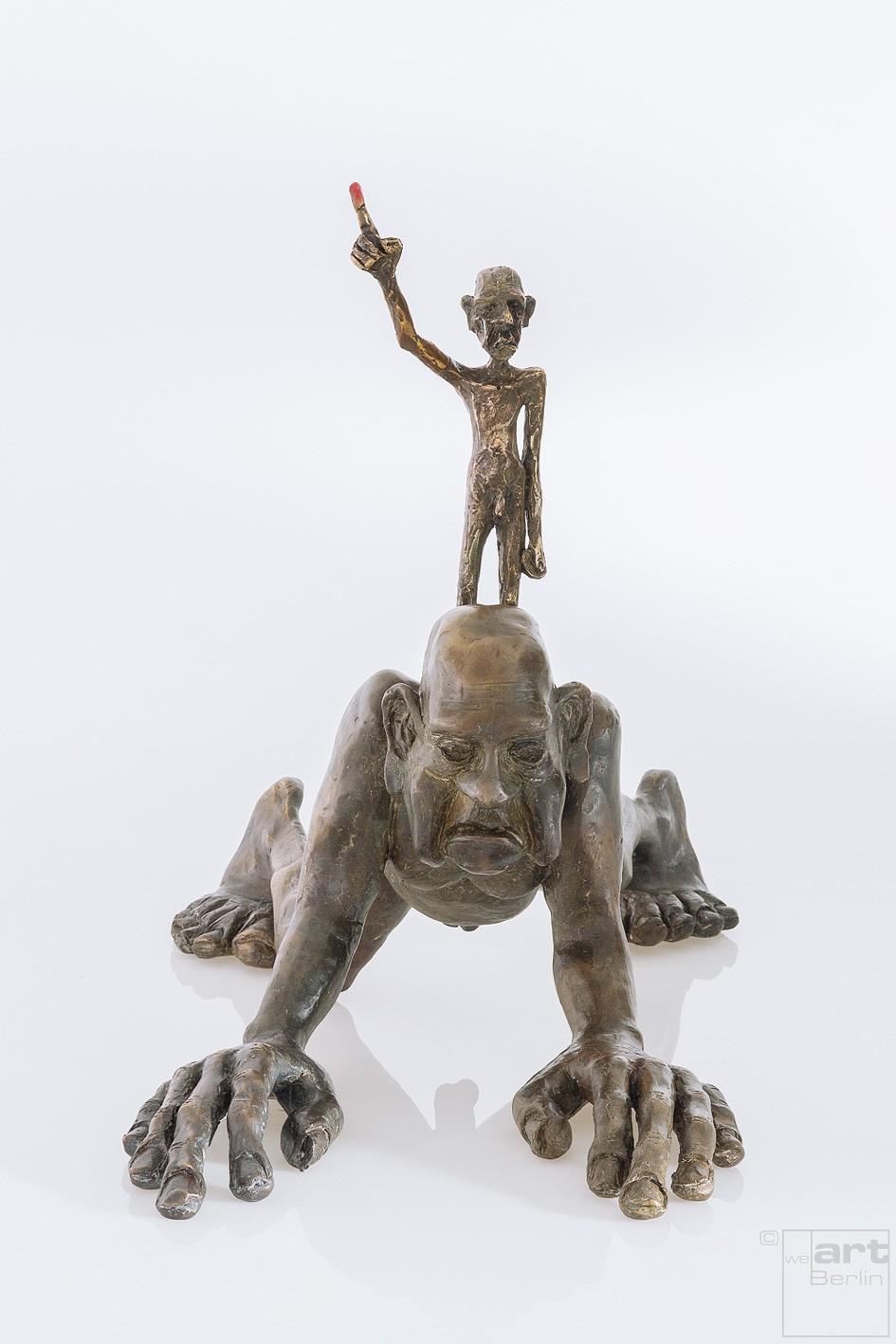 ÜberICH - Bronze Plastik - Skulptur frontal - Tim David Trillsam Bildhauer Künstler