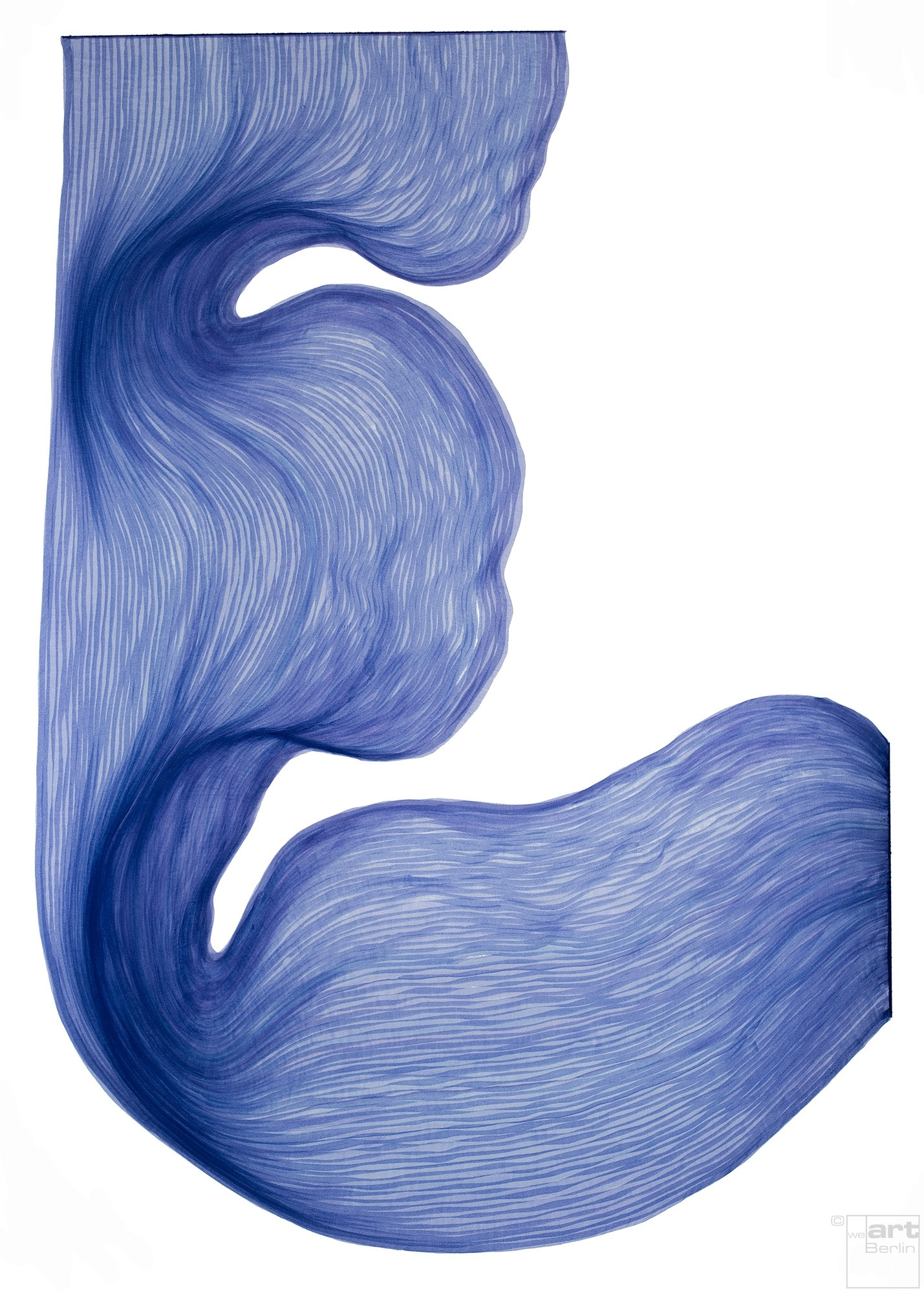 Lavender Blue | Lali Torma | Zeichnung | Kalligraphietusche auf Papier