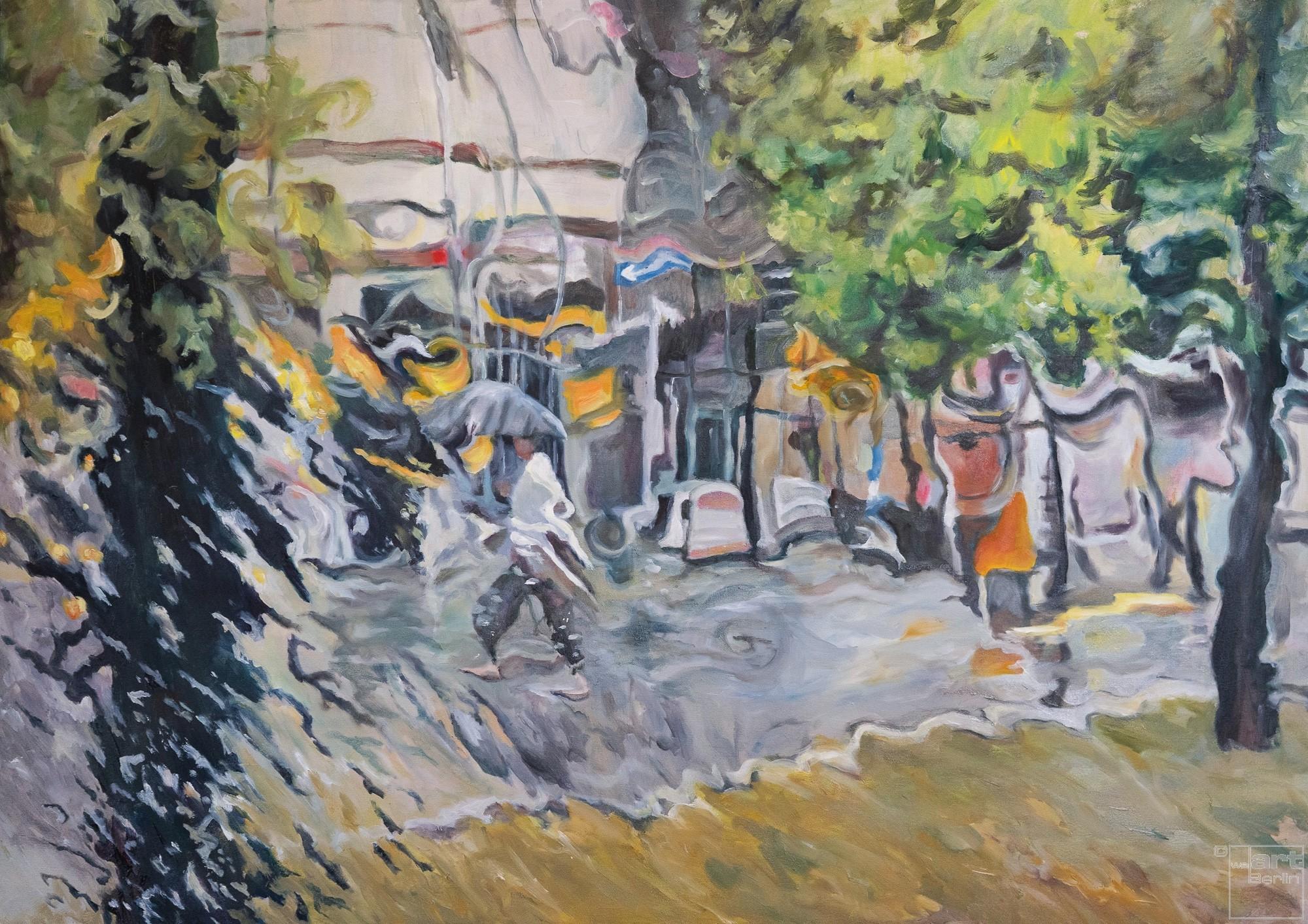 Rainfall I  | Malerei von Künstlerin Simone Westphal, Öl auf Leinwand