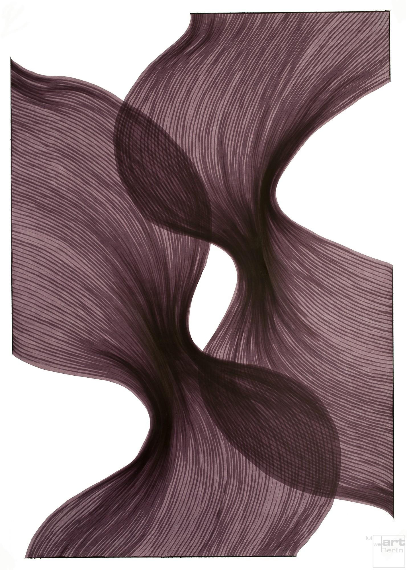 Venice Sheer Folds | Lali Torma | Zeichnung | Kalligraphietusche auf Papier