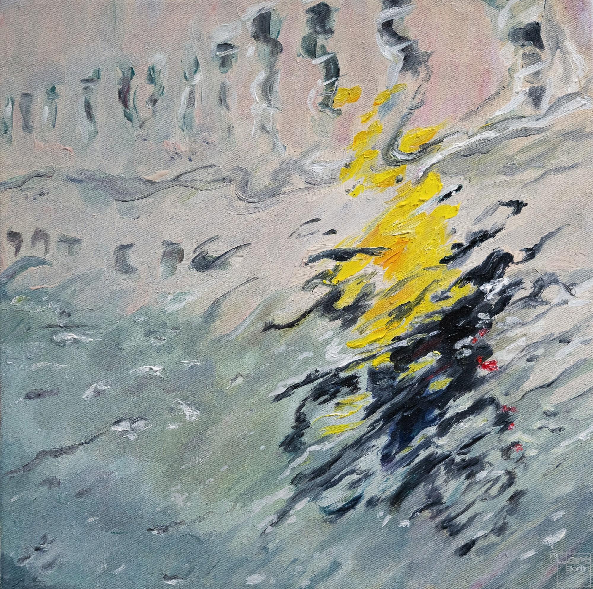 Yellow impression | Malerei von Künstlerin Simone Westphal, Öl auf Leinwand