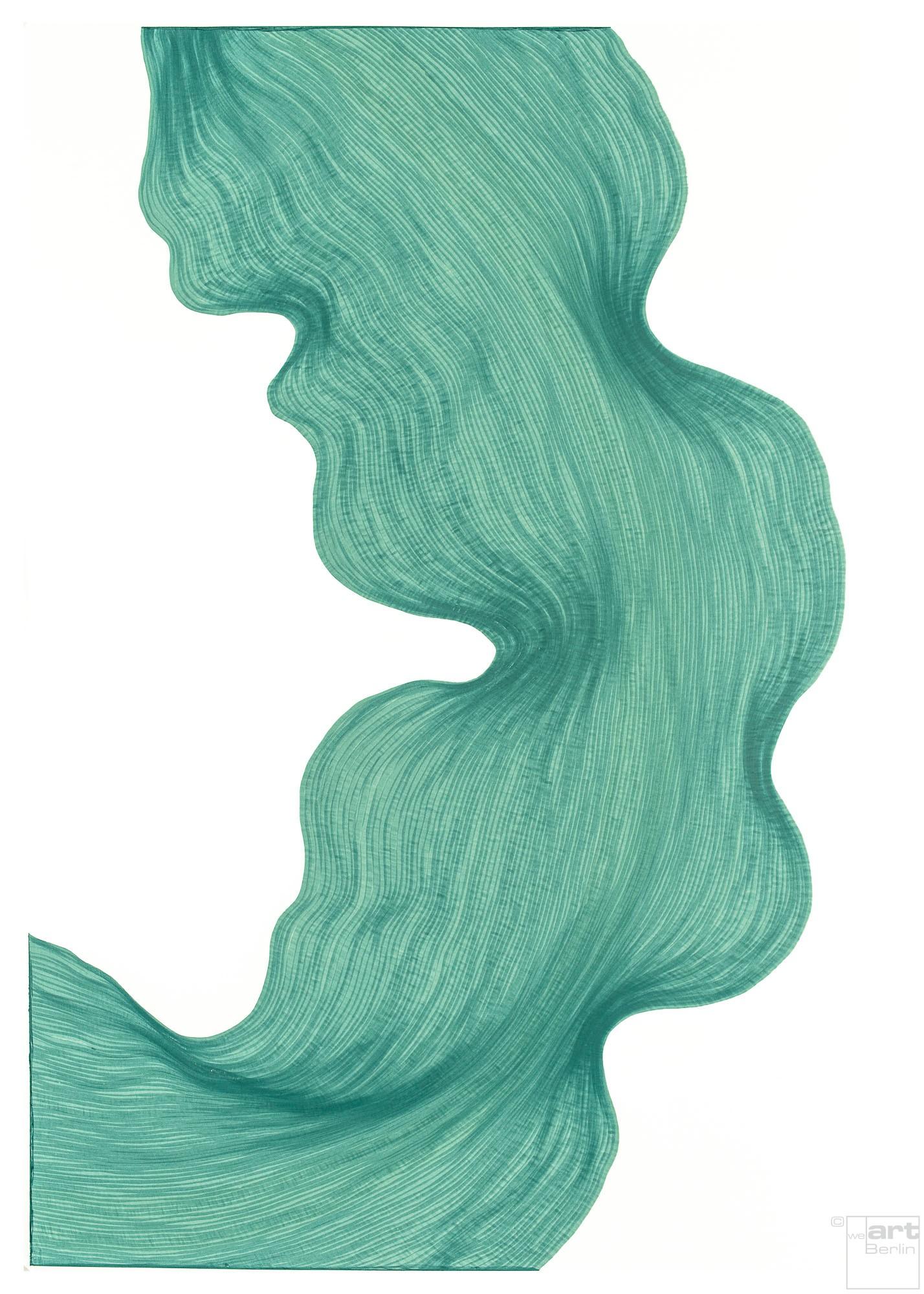 Icy Green | Lali Torma | Zeichnung | Kalligraphietusche auf Papier