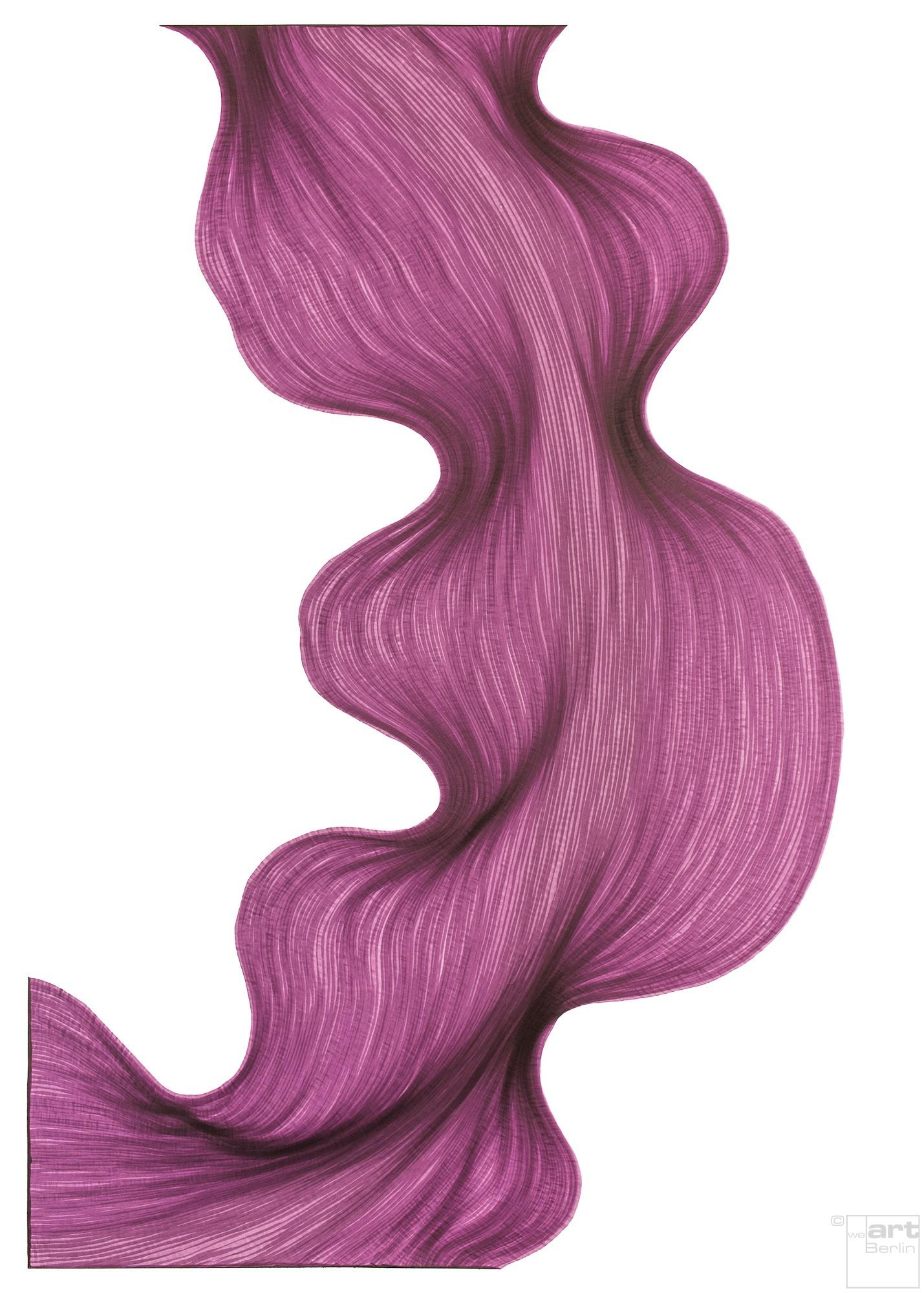 Bubbly Violet | Lali Torma | Zeichnung | Kalligraphie Tinte auf Papier