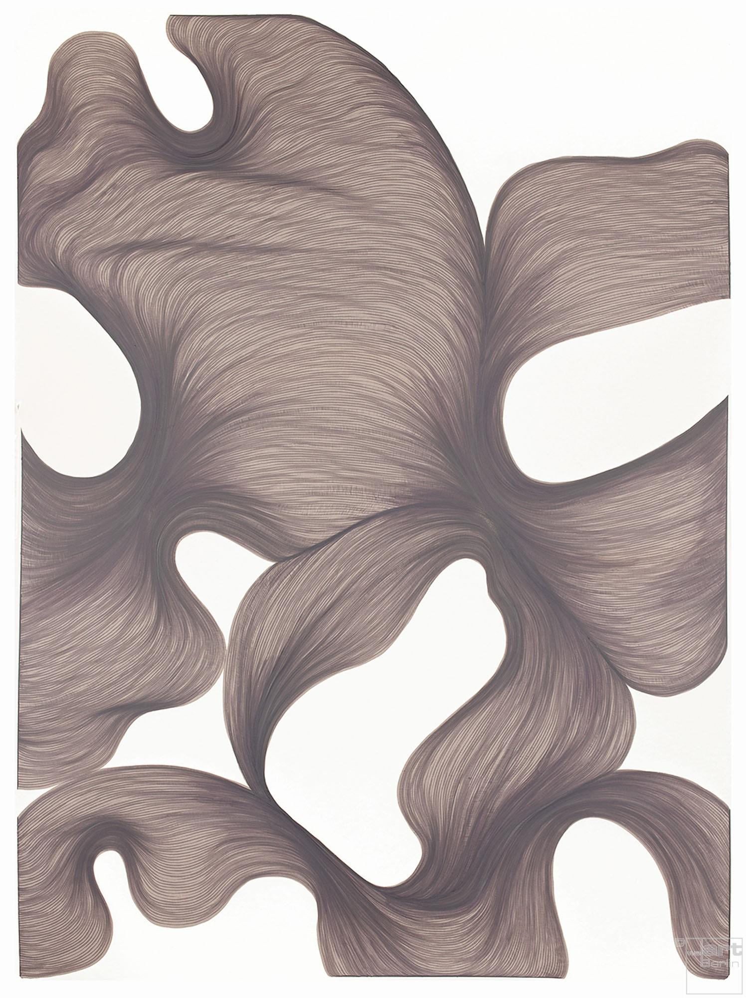 Smokey Lavender Escape | Lali Torma | Zeichnung | Kalligraphie Tinte auf Papier