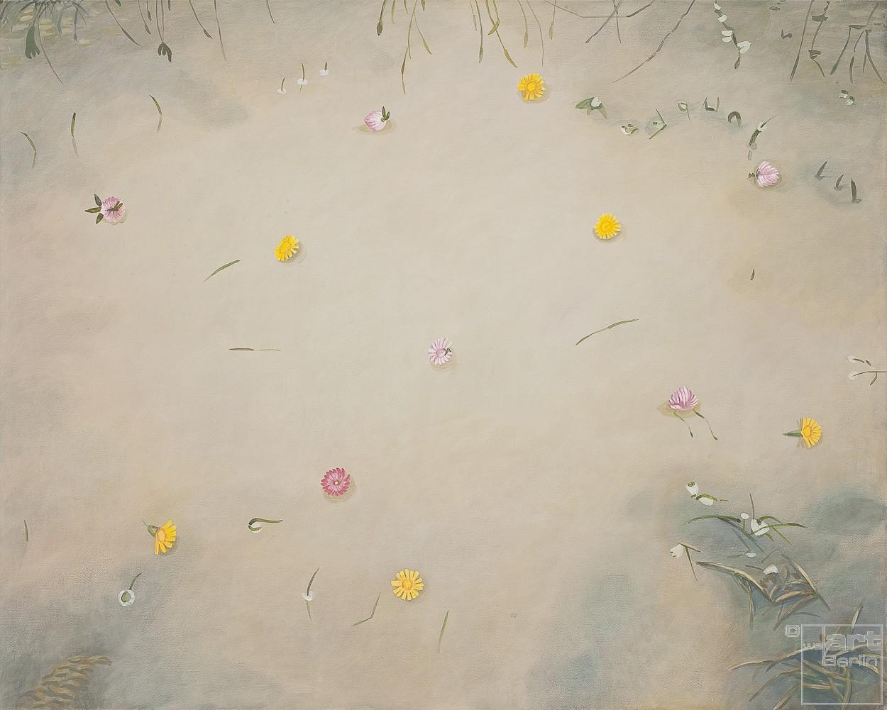 Kleine Pfütze | Malerei von Sven Wiebers | Acryl auf Baumwolle, realistisch