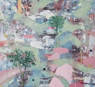 Spurensicherung_06, Malerei von Malwin Faber, Öl, Acryl und Sprühlack auf Leinwand