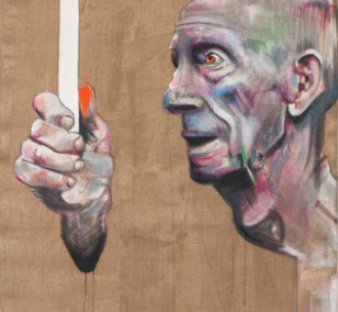 Fernblick - Detail | Malerei von Holger Weissflog, innerfields | Acryl auf Leinwand, Urban Art