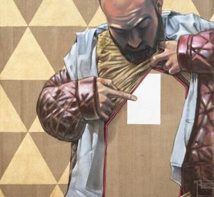 In Eins gewendet | Malerei von Veit Tempich, innerfields | Acryl auf Leinwand, Urban Art