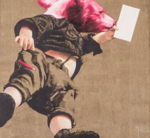 Pflegeleicht - Detail | Malerei von Jakob Tory Bardou, innerfields | Acryl auf Leinwand, Urban Art