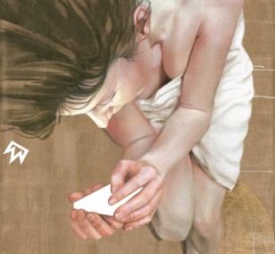 Schlaf | Malerei von Jakob Tory Bardou, innerfields | Acryl auf Leinwand, Urban Art