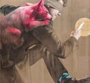 Schrittmacher - Detail | Malerei von Jakob Tory Bardou, innerfields | Acryl auf Leinwand, Urban Art
