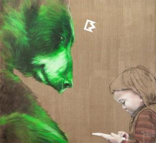 Trialog - Malerei von Jakob Tory Bardou, innerfields Leinwand Kunst