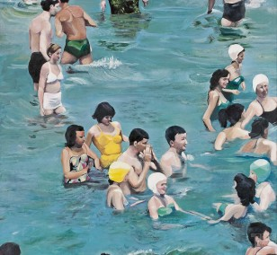 Coney Island | Malerei von Eva Nordal | Öl auf Baumwolle, realistisch