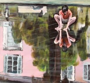 Die Berührung | Malerei von Künstlerin Simone Westphal, Acryl auf Leinwand