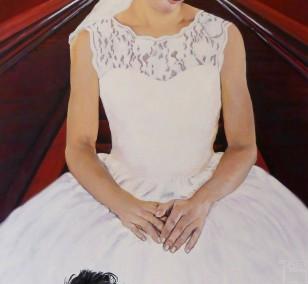 Die Sixtinische Rolltreppe | Malerei von Eva Nordal | Öl auf Baumwolle, realistisch