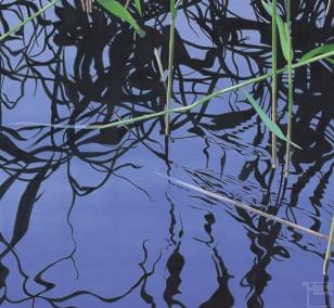 Schilf | Malerei von Sven Wiebers | Acryl auf Leinwand, realistisch