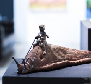 Schnegge - Bronze Plastik, Skulptur von Tim David Trillsam, Edition (1)