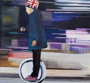 Brexit | Malerei von Eva Nordal | Öl auf Leinwand, realistisch