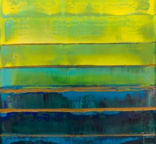 Prisma 19 – Türkise Dämmerung | Malerei von Lali Torma | Acryl auf Leinwand, abstrakt