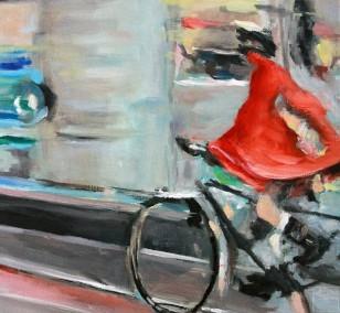 Vorbei | Malerei von Künstlerin Simone Westphal, Öl auf Leinwand