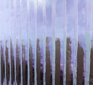 Pink November | Malerei von Lali Torma | Acryl auf Leinwand, abstrakt, Detail 2
