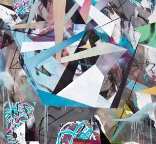 O.T. 06, Malerei von Malwin Faber, Öl, Acryl und Sprühfarbe auf Leinwand