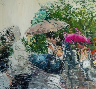 Schauer IV | Malerei von Künstlerin Simone Westphal, Öl auf Leinwand