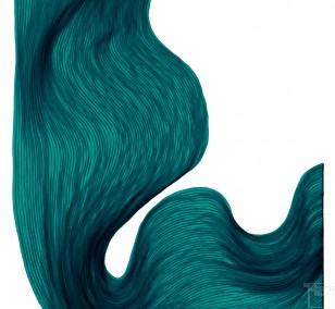Sea Green  | Lali Torma | Zeichnung | Kalligraphietusche auf Papier
