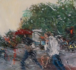 Rainfall II  | Malerei von Künstlerin Simone Westphal, Öl auf Leinwand