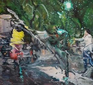 Schauer VI | Malerei von Künstlerin Simone Westphal, Öl auf Leinwand